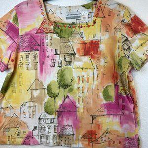 "Alfred Dunner T - shirt Blouse ""City"""